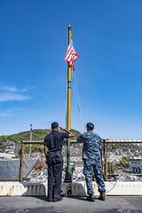170419-N-JH293-027 (U.S. Pacific Fleet) Tags: ussgb greenbay ussgreenbay lpd20 japan sasebo bhr esg ctf76 forwarddeployed us7thfleet pacific ocean water navy ship sailors wisconsin packers vmm262 31stmeu nbu7 marines bonhommerichard bhresg patrol jpn
