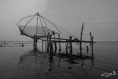 Chinese Fishing Net on Lake Vembanad (chris.bon) Tags: kerala vembanad india cochin alleppey lake