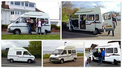 May I introduce you.. (Mike-Lee) Tags: campervan camper motorhome 1992 renaultt1100 petrol 1721cc fwd holdsworth rainbow april2017 mike jill jessica tomas collage picasa poole dorset southampton cheam
