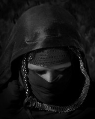 Bedouin girl (posterboy2007) Tags: egypt bedouin girl younggirl portrait bw face arab people sahara