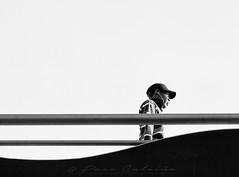 Low angle (Paco CT) Tags: bridge construccion construction gente infraestructura infrastructure nonbuildingstructure obracivil people puente lowangle robado candidshot candid streetphotography outdoor blackandwhite monochrome pacoct 2017 terrassa esp barcelona