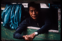 (AlanDejecacion) Tags: luangprabang laos southeastasia film slidefilm kodachrome boat riverboat mekongriver