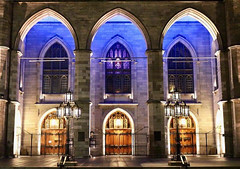 Basilica (alliejehle) Tags: church cathedral architecture stone lights city cityscape nighttime pretty beautiful catholic religion
