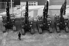 Troop Inspection (John fae Fife) Tags: fujifilmx noiretblanc xe2 monochrome machinery blackandwhite nb bw ijmuiden