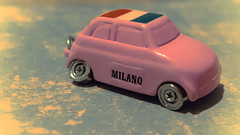Let's color the world and paint our cars in happy colors! (babs van beieren) Tags: keychain milano milaan italy pink car mini crazytuesday maketheworldmorecolorful souvenir miniature 7dwf