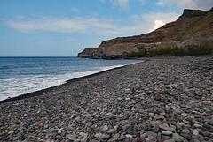 A pristine beach north of Mogan in Gran Canaria  /  En orörd strand norr om Mogan på Gran Canaria (larseriksfoto) Tags: strand beach sten hav sea dmczs50 dmctz70 grancanaria gran canaria kanarieöarna