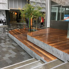 BNZ Centre Plaza in the rain (ropergees) Tags: christchurch bnz centre nz bcd square landscape architecture beca paul ropergee