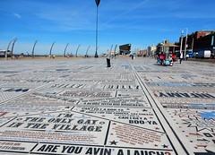 Comedy Carpet, Blackpool (deltrems) Tags: comedy carpet blackpool lancashire fylde coast quotes comedians entertainers promenade blue sky