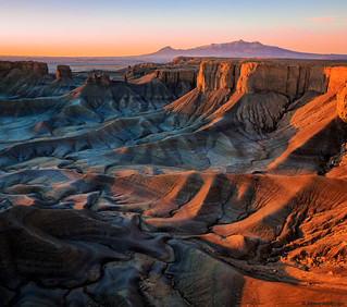 Sunrise in the badlands.