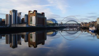 Newcastle Quayside Panorama Baltiic to Mariot