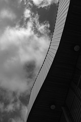 Architecture West End EPMG  (16 of 20) (Philip Gillespie) Tags: architecture edinburgh scotland mono buildings city sky spring form shape angles reflections clouds modern