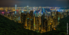 City of Hong Kong from Victoria Peak (lpvisuals.com) Tags: 2016 a7ii fe sony aftersunset architecture asia avenueofstars bankofchina bluehour braemarhill buildings central centralplaza china chinese city cityscape cloud clouds dark digital downtown dusk dynamic eastasia fareast harbor harbour hdr highdynamicrange highresolution hill hongkong hongkongisland ifc illuminated internationalcommercecentre internationalfinancecentre kong kowloon lights longexposure lowlight mongkok mountain night nighttime orange outdoor overcast panorama peak sky skyline skyscraper sonyalpha southchina specialadministrativeregion sunset thepeak tower travel travelphotography trees tsimshatsui urban urbanlandscape victoriaharbour victoriapeak water waterfront 香港