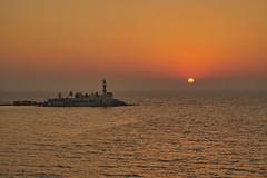 Mumbai Sunset (AgarwalArun) Tags: mosque architecture building sunset island mumbai worli ocean sky landscape indoislamicarchitecture dargah haliali