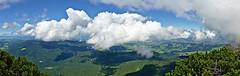 Icecream castles in the air ... (Michael Keyl) Tags: mountains berge alpen alps bayern bavaria inzell bayerischealpen outdoor hiking wandern clouds wolken