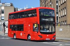 LJ17 WRP (MV38211) Tower Transit (hotspur_star) Tags: londontransport londonbuses londonbus londonbuses2017 mcvvolvoevoseti tfl transportforlondon hybridbus hybridtechnology busscene2017 doubledeck towertransit lj17wrp mv38211 13