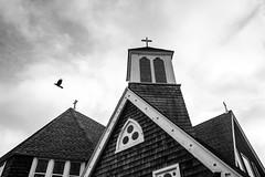 omen (eb78) Tags: ma massachusetts marthasvineyard newengland bw blackandwhite monochrome greyscale grayscale oakbluffs church