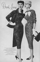 David Levine 1956 (barbiescanner) Tags: vintage retro fashion vintagefashion 50s 50fashion vintagevogue vogue vintageads davidlevine dovima sunnyharnett