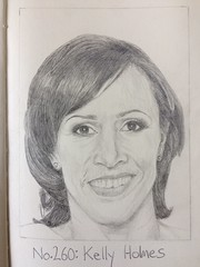 No.260: Kelly Holmes (Dame Warden) Tags: drawing portrait sketch dame kelly holmes