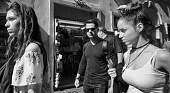 Watching me watching you!! (Baz 120) Tags: candid candidstreet candidportrait city candidface candidphotography contrast street streetphoto streetcandid streetphotography streetphotograph streetportrait rome roma romepeople romestreets romecandid europe women monochrome monotone mono blackandwhite bw noiretblanc urban voightlander12mmasph life leicam8 leica primelens portrait people unposed italy italia girl grittystreetphotography faces decisivemoment strangers