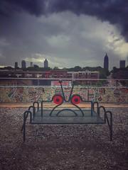 Sad Bug-Bench (TAYLJ158) Tags: atlanta mobilephotography iphone6s bench bug sadface beltline outdoor outside overcast jennifertaylor