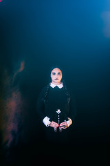wednesday addams. wizard world comic con. august 2016 (timp37) Tags: nat nathalie wizard world comic con august 2016 illinois chicago rosemont wednesday addams cosplay cosplayer