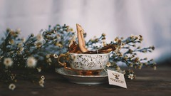 263/365 Tea Time (Katrina Y) Tags: selfportrait miniature surreal fineart art surrealphotography sunlight flowers teacup tea feetinframe feet dive tinypeople 2017 365project conceptual creative concept artistic cinematic
