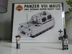 MAUS maus maus!! (Brick Viller) Tags: maus brickmania panzer viii lego wwii ww2 tank