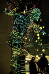 IMG_1911 (Skier1437) Tags: light led lightcity baltimore 2017 festival lightfestival celebration colors 5d mark ii canon maryland tree gimp wire reflection
