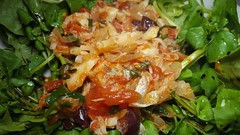 #100417 #jantar salada de agrião e bacalhau desfiado  #dinner cress salad and codfish tomato sauce (i cook my meals daily) Tags: dinner jantar 100417