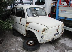 1969 Fiat 600 D (Alessio3373) Tags: scrap scrapped scrappedcars unused unloved neglected forgotten forgottencars rust rusty rusted rustycars corroded corrosion ruggine abandoned abandonedcars autoabbandonate abandonment urbex scrapyard fiat600d fiat600 targhenere blackplates