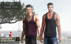 NEW! TYLER TANK TOP @ TMD APRIL (coldashsl) Tags: sl menswear mens mesh clothing fashion male shop coldash cold ash tmd department project themeshproject slink physique signature gianni fittedmesh fitmesh tank top