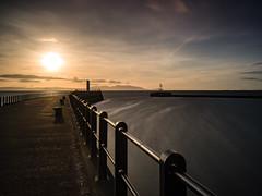 Sunset on Ayr Harbour (stephen cosh) Tags: ayr ayrharbour ayrshire hasselbladx1d hasselbladxcd45mm landscape lighthouse longexposure mediumformat ocean scotland seascape stephencosh