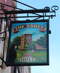 English Pub Sign - The Abbey, St Helens (big_jeff_leo) Tags: sthelens england english streetart sign painted art pub bar tavern