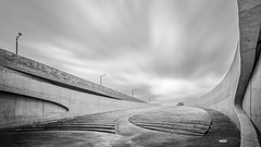 Stairpath (frank_w_aus_l) Tags: riemst belgium maastricht monochrome sw noiretblanc d800 nikon 1424 debrug vroenhoven vlaanderen belgien be perspective concrete bw architecture stairs