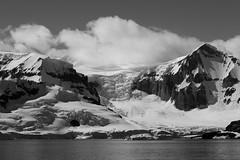 Light and Shadow (Danae Sheehan) Tags: blackandwhite monochrome antarctica landscape view cold snow ice rock black white sky scenic still antarctic peninsula mountains ridges water