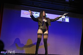 Comicdom Con Athens 2017: On stage: Ailiroy as Zatanna (the persenter of the show)