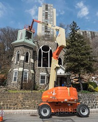 Demolition of Lord's Grace Church (built 1907), Edgewater, New Jersey (jag9889) Tags: 07020 1907 2017 20170415 architecture bergencounty bobcat building church construction crane demolition edgewater gardenstate house nj newjersey outdoor stained usa undercliffavenue unitedstates unitedstatesofamerica windows worship jag9889 zip07020 us