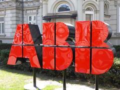 P1030387 (mjaniec) Tags: abb logo pałacpugetów red czerwony