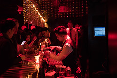 Bartender at Le Baron - French Concession, Shanghai (ChrisGoldNY) Tags: challengewinners challengefactory chrisgoldny chrisgoldphoto chrisgoldphotos chrisgoldberg forsale licensing albumcover albumcovers bookcover bookcovers china chinese mainlandchina middlekingdom asia asian shanghai frenchconcession redlight red lebaron bars nightlife clubs night bar