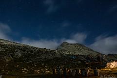 Evening in Pirin mountain (Rivo 23) Tags: pirin mountain bulgaria tevno lake ezero пирин планина българия тевно езеро заслон вечер night photo stars