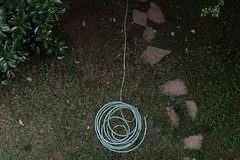 Back to the source (georgedks) Tags: hose garden winding coiling twisting paved tiled