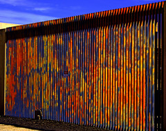 Earth Day (oybay©) Tags: earthday earth day albuquerque newmexico color colors wal thewall gonnabuildawall sky blue orange yellow rust black rusted crusted rusty unusual graphic colorful