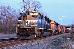 Power Outage (BravoDelta1999) Tags: norfolksouthern ns railway canadiannational cn railroad sooline soo wisconsincentral wc waukeshasubdivision ohare illinois emd sd70m2 2704 m349 manifest train