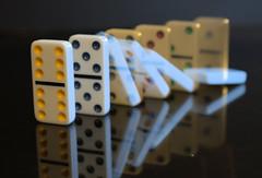 We all fall (jwal900) Tags: macro mondays camera blur intentional reflection dominoes