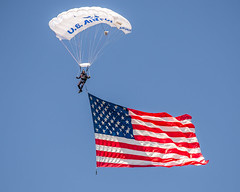 Maxwell AFB 2017 Flag Jump-2 (4myrrh1) Tags: parachute maxwell afb al alabama military aviation airshow ceremony flags flag oldglory starsandstripes