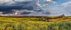 IMG_8389-91Ptzl1scTBbLGER (ultravivid imaging) Tags: ultravividimaging ultra vivid imaging ultravivid colorful canon canon5dmk2 clouds stormclouds scenic vista fields farm rural pennsylvania panoramic pa barn silo