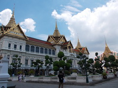 At the Grand Palace (Connie Churcher) Tags: travel bird thailand temple bangkok buddha royal jade grandpalace temples emerald emeraldbuddha phraborommaharatchawang grandpalacetemples