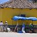 Piccola bancarella di gente locale in Yamaranguila