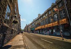 Historic Quebec City, Canada (` Toshio ') Tags: road street sky people canada history walking french quebec perspective canadian sidewalk shops historical quebeccity toshio