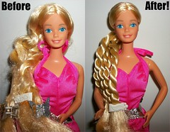 Twirly Curls Barbie RESTORED! (awesome_toys_galore) Tags: fashion 1982 doll barbie curls mattel twirly